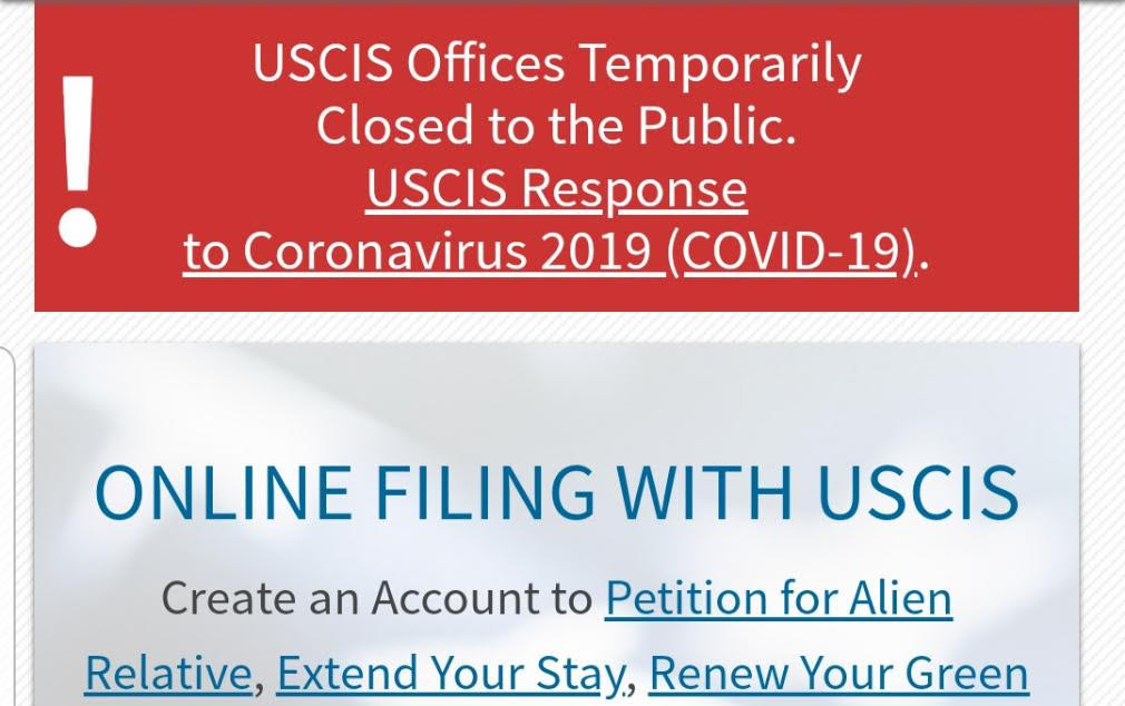 USCIS Offices Temporarily Closed